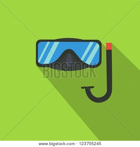 Diving mask. Summer time. Holidays. Icon flat.