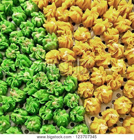 chinese steamed dumpling,  yumcha or dim sum