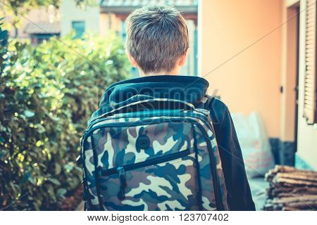an ordinary day - go to school - vintage style photo