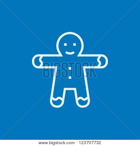 Gingerbread man line icon.