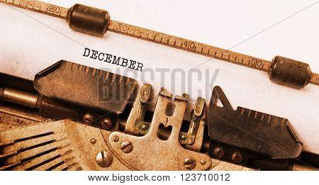 Old Typewriter - December
