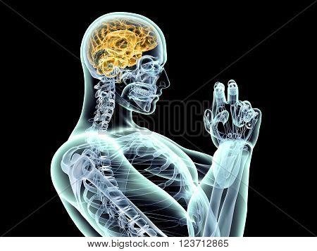 Power of the mind. 3D rendered illustration.