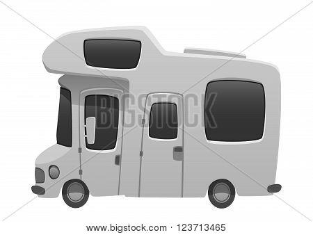 Camper van travel cartoon summer car illustration vehicle