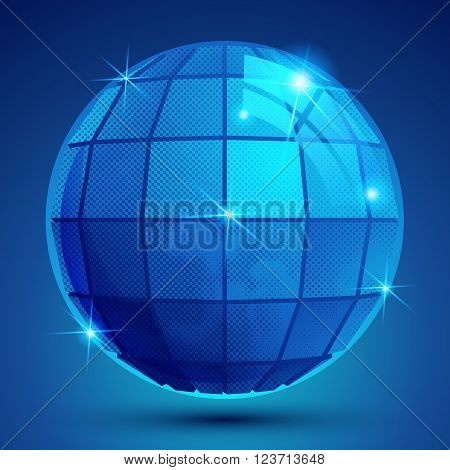 Grained plastic navy flash globe geometric glisten figure.
