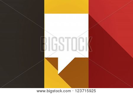 Long Shadow Belgium Flag With A Tooltip
