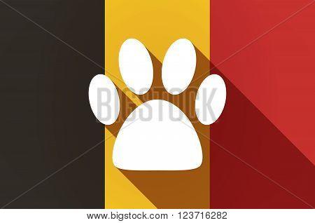 Long Shadow Belgium Flag With An Animal Footprint