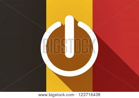 Long Shadow Belgium Flag With An Off Button