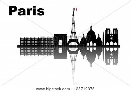 silhouette of Paris skyline - great for your design