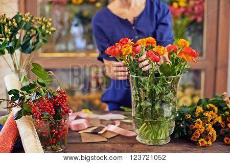 Fresh flowers in vase