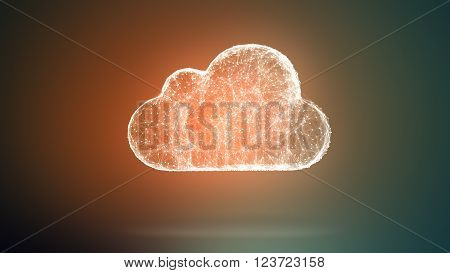 3D Illustration: Cloud Storage