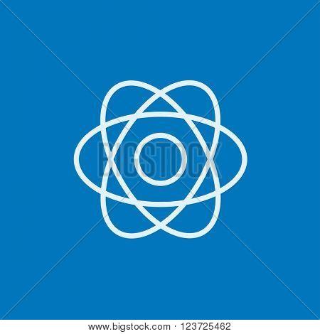 Atom line icon.