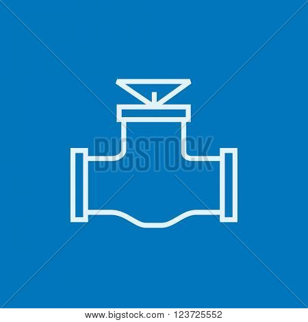 Gas pipe valve line icon.