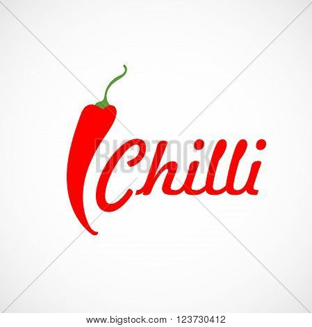 Pepper chilli vector red logo, illustration isolated on background