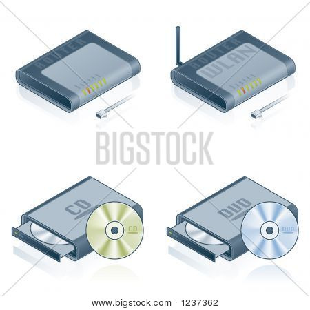 Computer Hardware Icons Set - Design Elements 55B