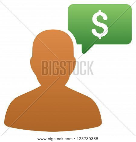 Price Bidder vector toolbar icon for software design. Style is a gradient icon symbol on a white background.