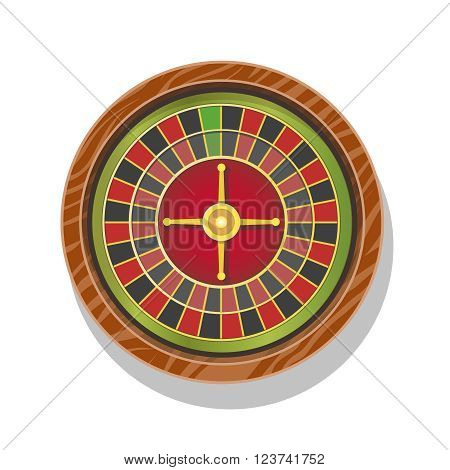 Vector illustration of casino roulette wheel.  gambling