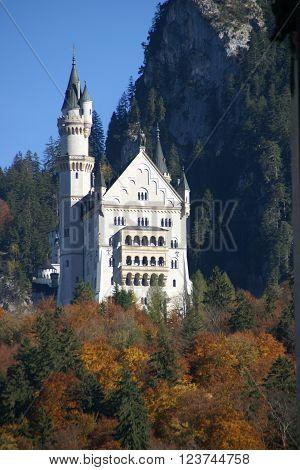 The King castle in Bavaria Neuschwanstein, Germany