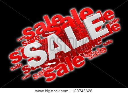 Sale. Image with clipping path. Three-dimensional Shape