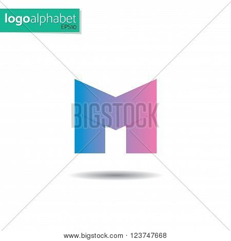 letter M vector template for using as logo