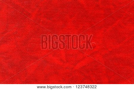 Red Leather Surface.