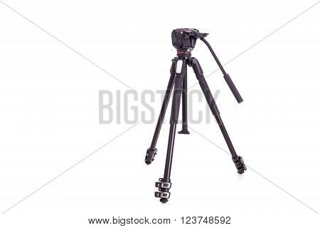 New Video Or Camera Tripod Isolated On White