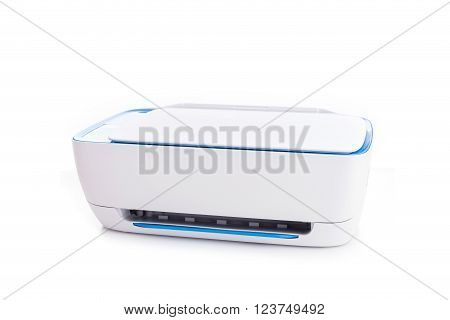 New White Printer Isolated On White Background