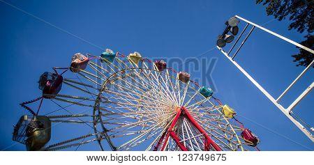 Ferris wheel at state fair in maine