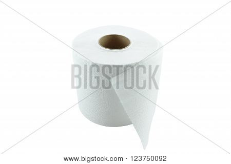 Tissue Paper or Toilet paper isolation on white background