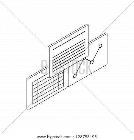 Patient records icon in isometric 3d style isolated on white background