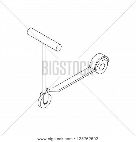 Kick scooter icon in isometric 3d style isolated on white background