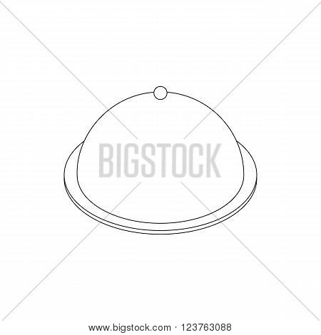 Tray icon in isometric 3d style isolated on white background. Food cover icon