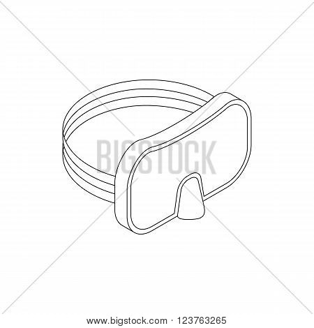 Diving mask icon in isometric 3d style isolated on white background