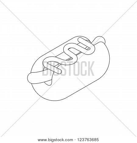 Hotdog icon in isometric 3d style isolated on white background