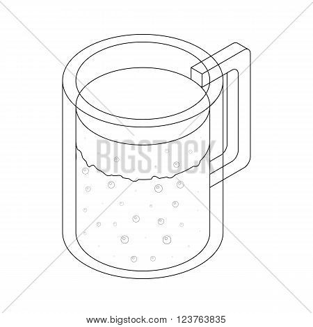 Carafe icon in isometric 3d style isolated on white background. Decanter with a drink