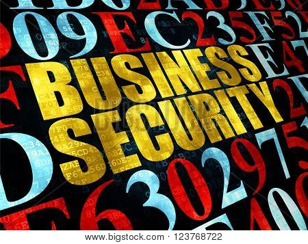 Safety concept: Business Security on Digital background