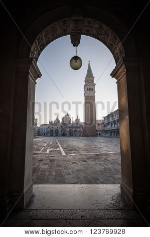 Campanile In St Marks Square In Venice
