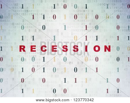 Finance concept: Recession on Digital Paper background