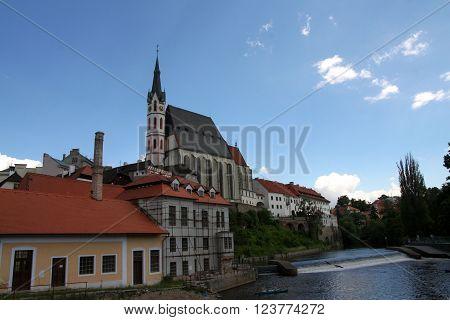 Cesky Krumlov Czech republic, view of the city