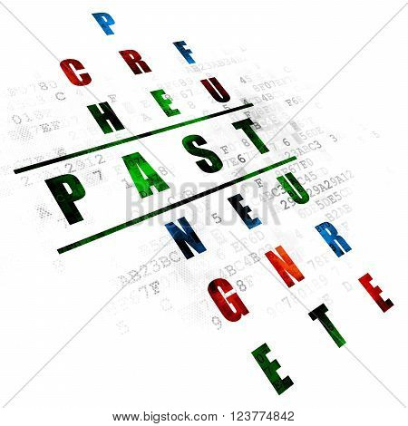 Time concept: Past in Crossword Puzzle