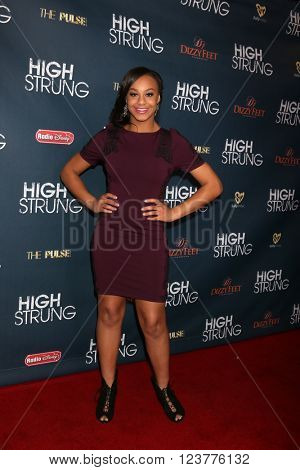 LOS ANGELES - MAR 29:  Nia Sioux at the High Strung Premeire at the TCL Chinese 6 Theaters on March 29, 2016 in Los Angeles, CA