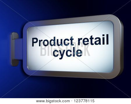 Advertising concept: Product retail Cycle on billboard background