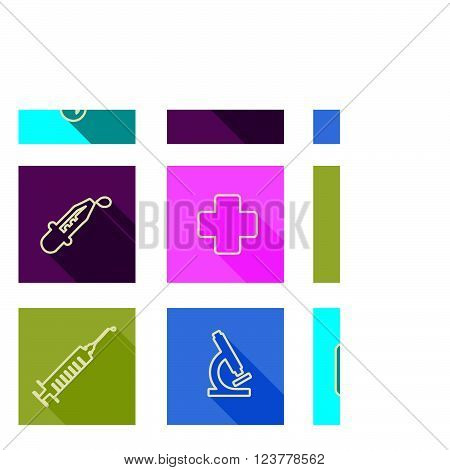 set of medical line icons Vector illustration
