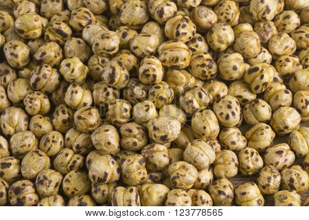 Roasted Chickpea close up. Roasted Chickpea background.