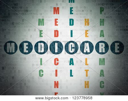 Health concept: Medicare in Crossword Puzzle