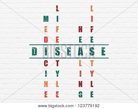 Healthcare concept: Disease in Crossword Puzzle