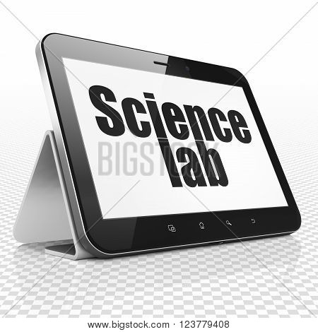 Science concept: Tablet Computer with Science Lab on display