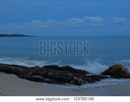 Beautiful Beach at Dusk Desaru Beach Johor Malaysia