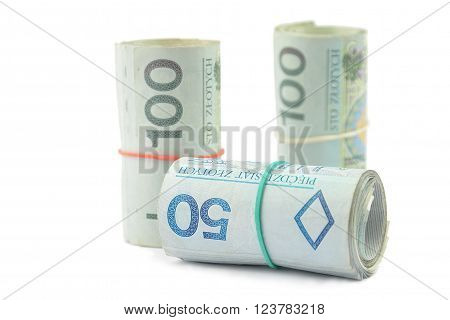 Rolls Of Polish Banknotes