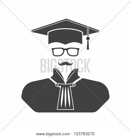 Judge icon vector illustration. Flat design.  Lawyer.
