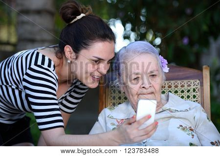 Grandma Look In Smartphone